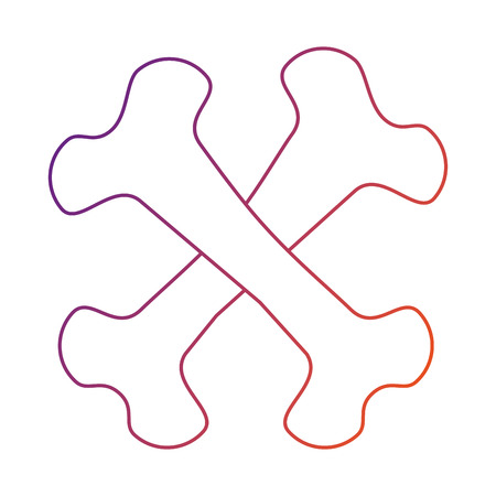 bones crossed drawing isolated iconvector illustration design Illustration