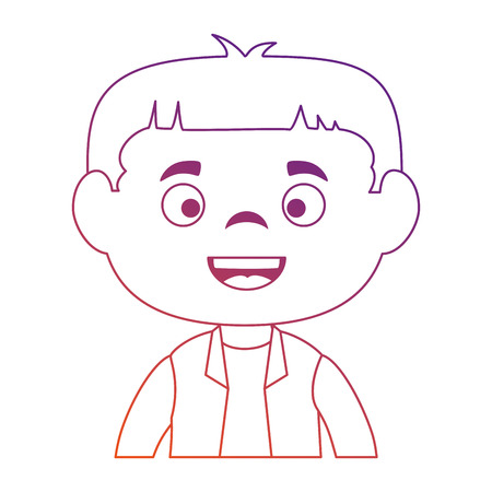 little boy disguised vector illustration design Illustration