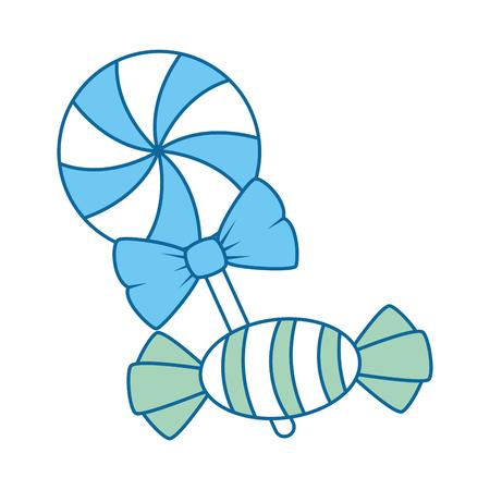 zoet suikergoed Halloween-ontwerp van de pictogram het vectorillustratie