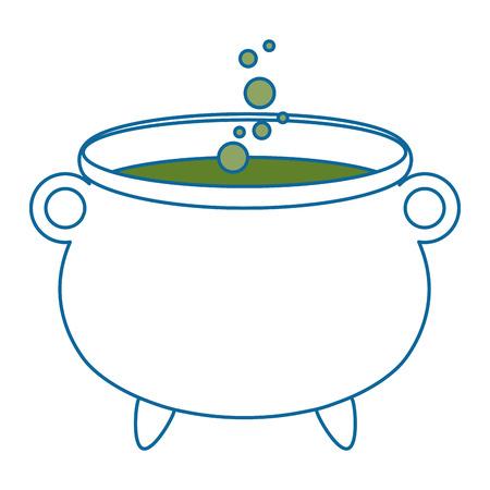 ontwerp van de het pictogram vectorillustratie van de heksenketel het geïsoleerde Stock Illustratie