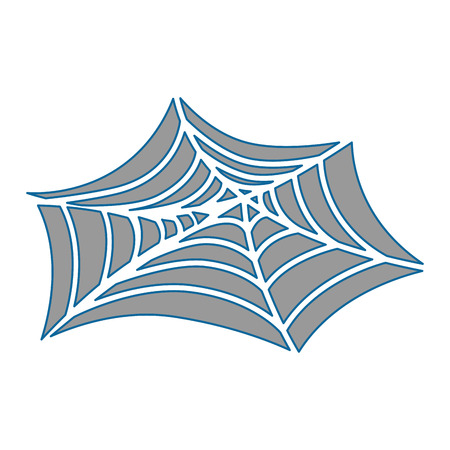 spiderweb halloween decorative icon vector illustration design