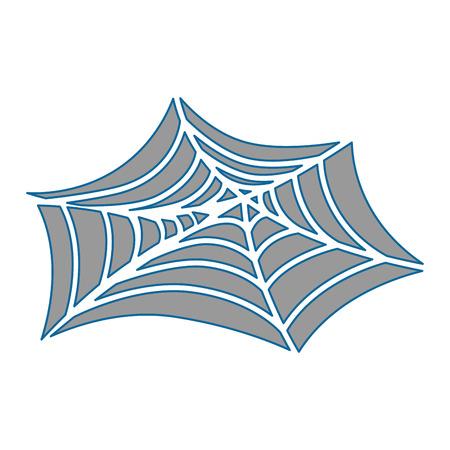 spiderweb halloween decorative icon vector illustration design