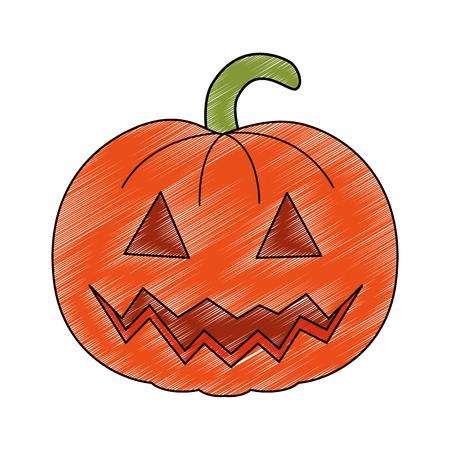 pumpkin hallooween decorative icon vector illustration design Stock Vector - 88893761