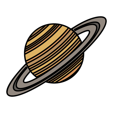saturn planet isolated icon vector illustration design Stock fotó - 88893770