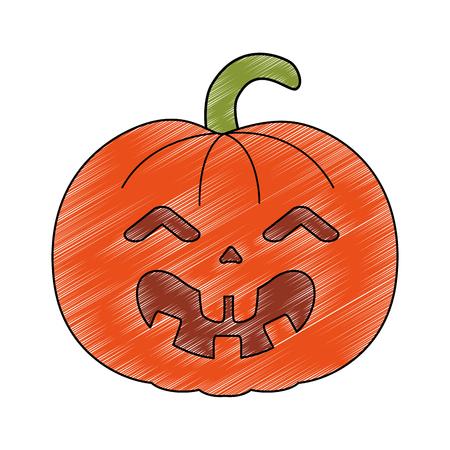 pumpkin hallooween decorative icon vector illustration design Stock Vector - 88893777