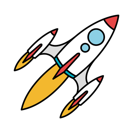 space rocket isolated icon vector illustration design 向量圖像