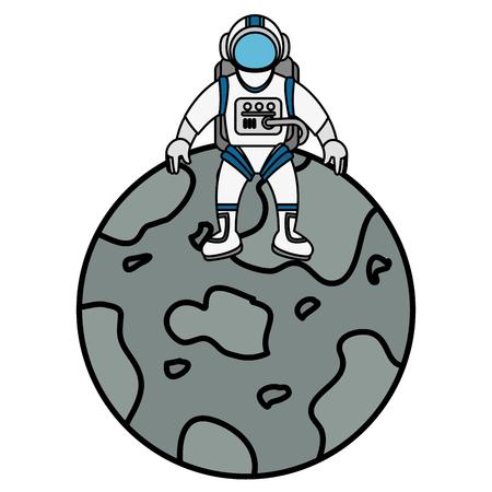 mercury planet isolated icon vector illustration design