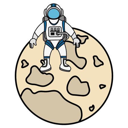 moon satellite isolated icon vector illustration design