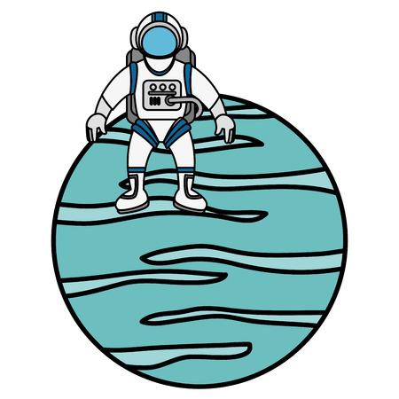 neptune planet isolated icon vector illustration design