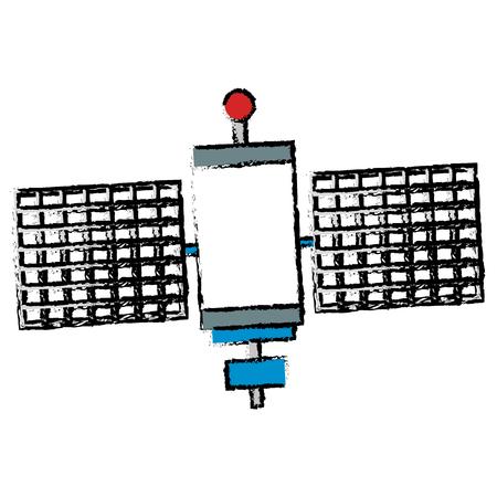 人工衛星分離アイコン ベクトル イラスト デザイン  イラスト・ベクター素材
