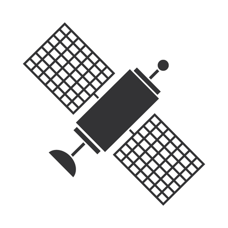 space satellite isolated icon vector illustration design