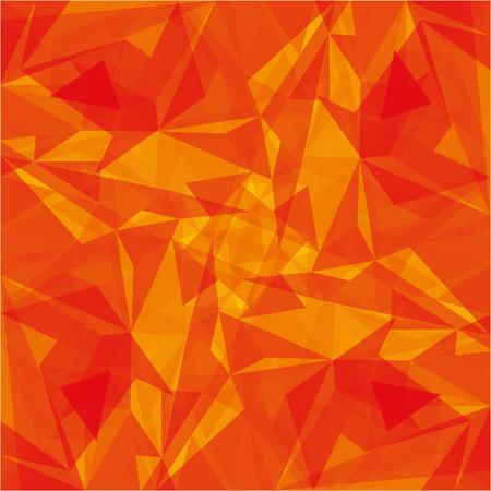 オレンジ色のモダンな幾何学的抽象背景テクスチャ ベクトル図