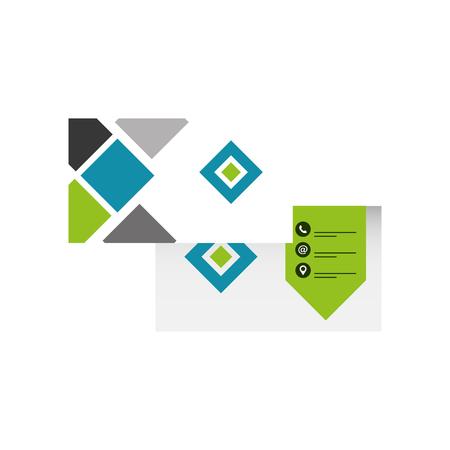 zakelijke dubbelzijdige visitekaartje briefpapier sjabloonontwerp vectorillustratie