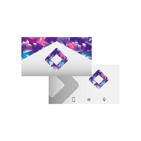 기업 양면 명함 편지지 템플릿 디자인 벡터 일러스트