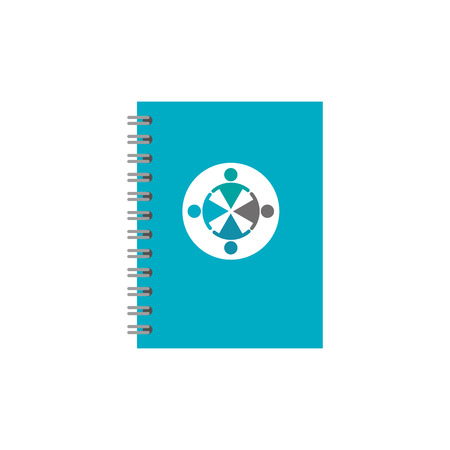 template for advertising branding and corporate identity spiral notepad vector illustration