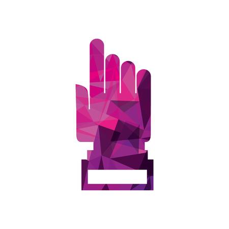 hand cursor technology point connection link vector illustration Illustration