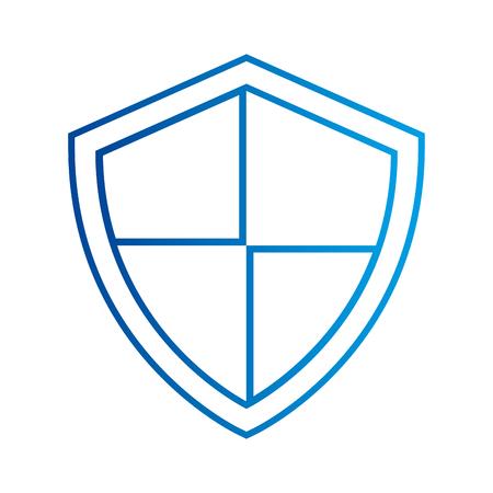 방패 보호 데이터 시스템 정보 기술 벡터 일러스트 레이션 일러스트