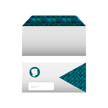envelopes corporate stationery office template vector illustration