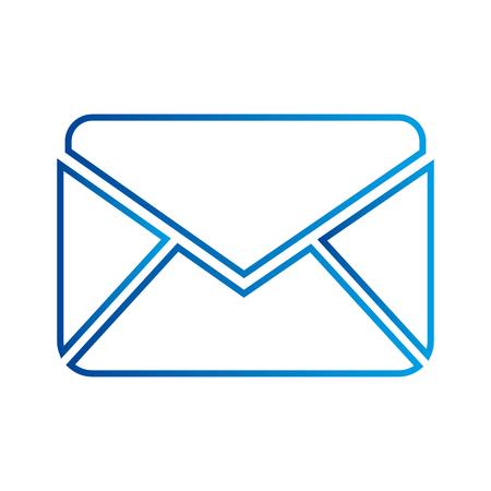 zakelijke e-mail envelop bericht brief vectorillustratie Stock Illustratie