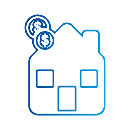 home budget piggy bank finance money vector illustration
