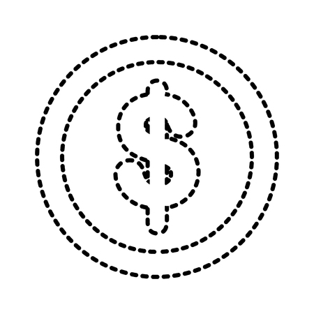 dollar coin money currency cash finance banking vector illustration