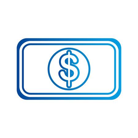 dollar money cash banknote financial business vector illustration Иллюстрация