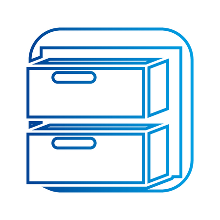 Büroschubladen archivieren Dokument Vektor-Illustration Standard-Bild - 88894050