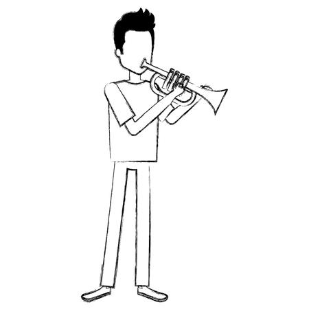 Man playing trump character vector illustration design.