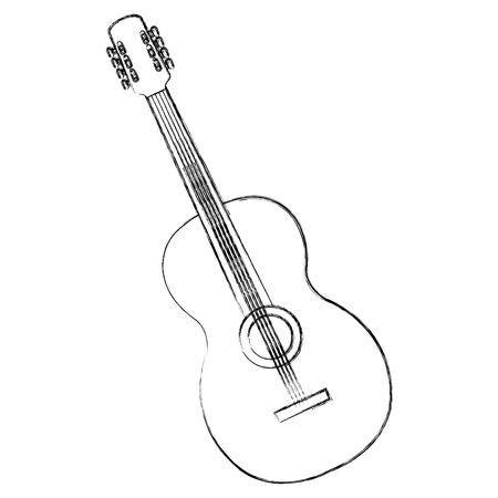 Guitar instrument isolated icon vector illustration design. Illustration