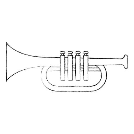 trumpet instrument isolated icon vector illustration design.