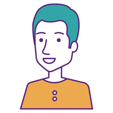 Young man avatar character vector illustration design Illustration