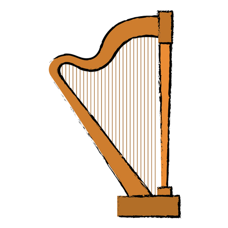 harp instrument isolated icon vector illustration design Illustration