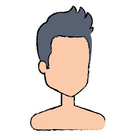 young man shirtless avatar character vector illustration design Stock Vector - 88905686