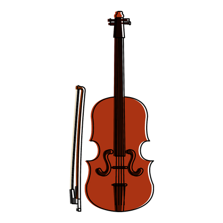 fiddle instrument isolated icon vector illustration design