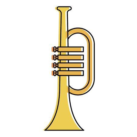 trumpet instrument isolated icon vector illustration design