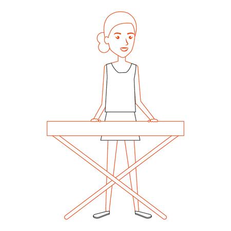 Femme jouant synthétiseur caractère vector illustration design Banque d'images - 88937566