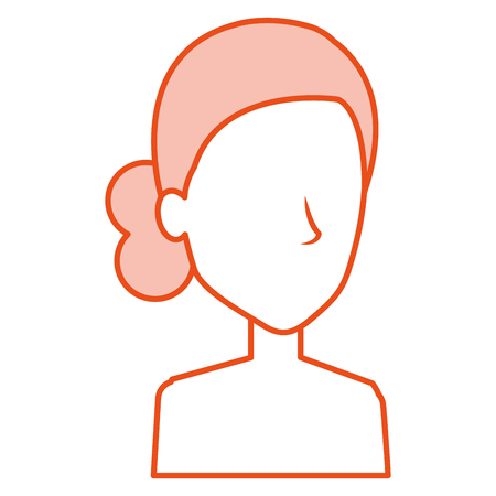 glamorous: beautiful woman shirtless avatar character vector illustration design Illustration