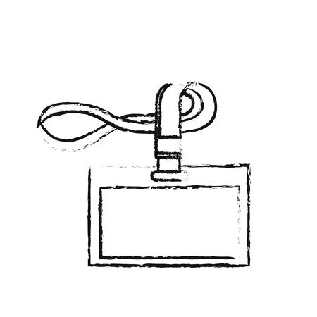 id corporate office lanyard branding template vector illustration 向量圖像