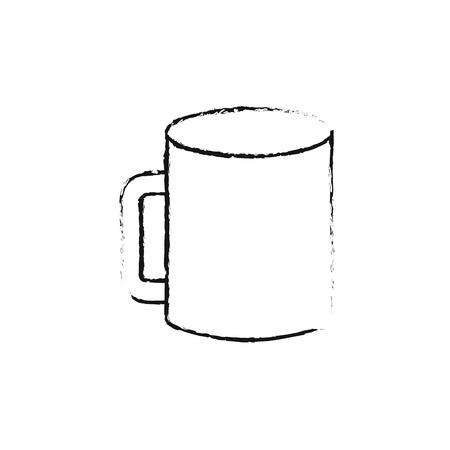 브랜딩 정체성 및 회사 빈 디자인 벡터 일러스트 레이 션에 대 한 기업 세라믹 머그잔 템플릿의 mockup 스톡 콘텐츠 - 88960314