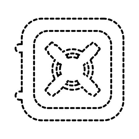 Illustrazione di vettore del concetto finanziario di affari del tesoro dell'icona della scatola sicura Archivio Fotografico - 88960331