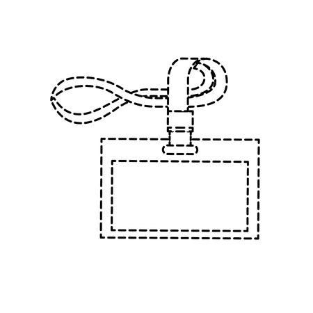 id corporate office lanyard branding template vector illustration Illustration
