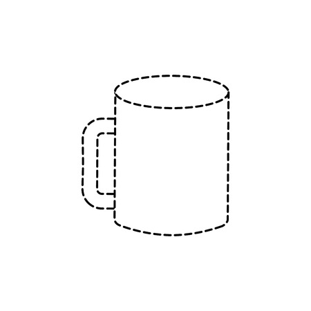 mockup of corporate ceramic mug template for branding identity and company blank design vector illustration 向量圖像