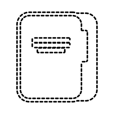 zakelijke kantoormap bestand documentpictogram vectorillustratie Stock Illustratie