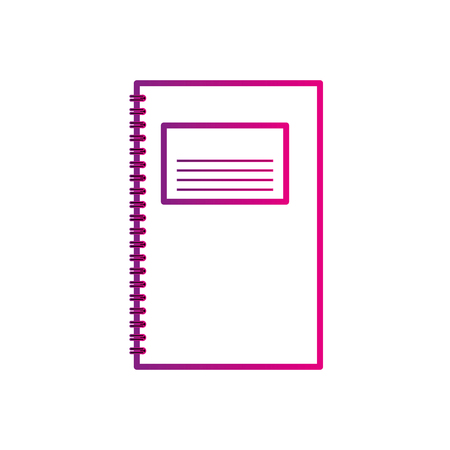 template for advertising branding and corporate identity spiral notepad vector illustration Stock Vector - 88960603