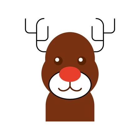 Kerst rendieren dier gehoornde grappige vectorillustratie Stockfoto - 88960606