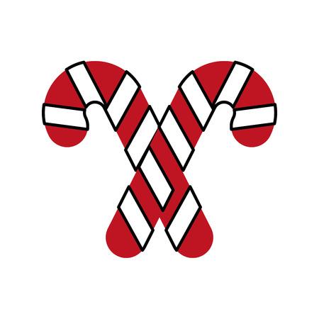 クリスマス2キャンディ杖ミントスウィートベクトルイラスト