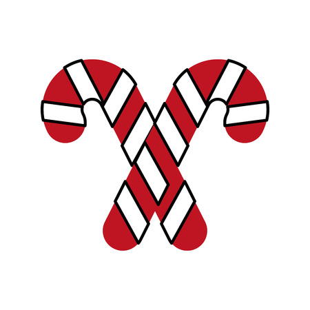 christmas two candy cane mint sweet vector illustration Ilustrace
