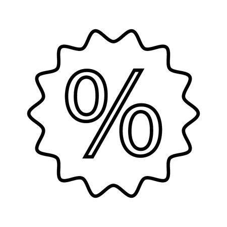 discount percent sale offer price marketing badge vector illustration Ilustração