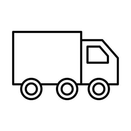 truck delivery logistic transport cargo vector illustration