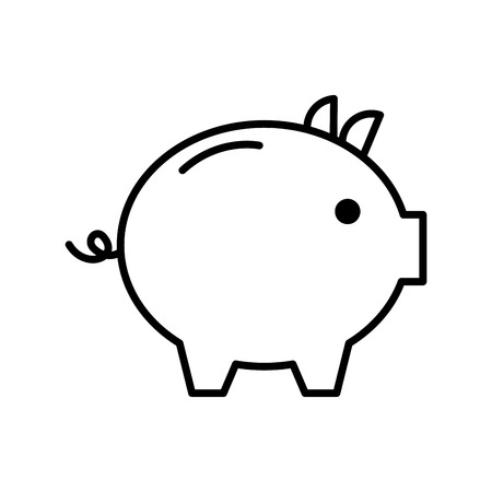 piggy bank safety money investment commerce vector illustration